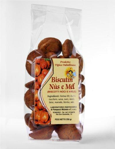 Biscutìn nùs e mél - Biscotti con noci e miele